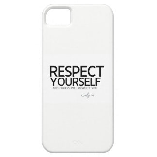 QUOTES: Confucius: Respect yourself iPhone 5 Covers
