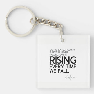 QUOTES: Confucius: Rising every time Keychain