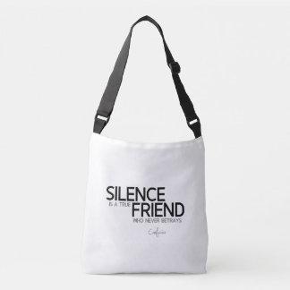 QUOTES: Confucius: Silence, true friend Crossbody Bag