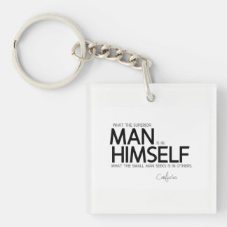 QUOTES: Confucius: Superior man seeks Keychain
