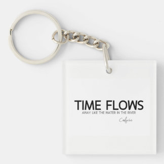 QUOTES: Confucius: Time flows away Keychain