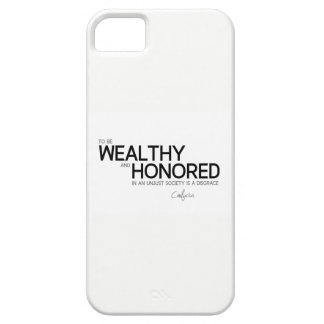 QUOTES: Confucius: Wealthy and honored iPhone 5 Case