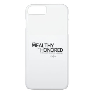 QUOTES: Confucius: Wealthy and honored iPhone 8 Plus/7 Plus Case