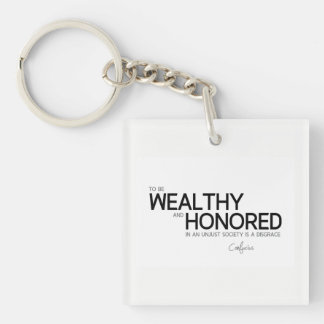 QUOTES: Confucius: Wealthy and honored Keychain