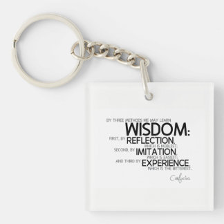 QUOTES: Confucius: Wisdom: reflection, imitation Keychain