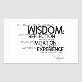 QUOTES: Confucius: Wisdom: reflection, imitation Sticker