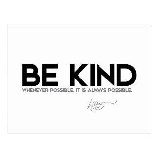 QUOTES: Dalai Lama - Be Kind Postcard