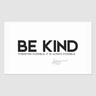 QUOTES: Dalai Lama - Be Kind Sticker