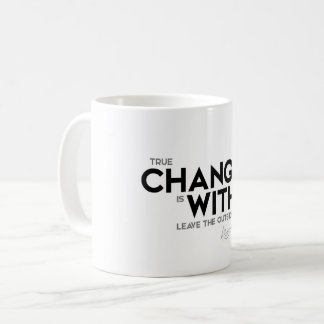 QUOTES: Dalai Lama - Change is within Coffee Mug