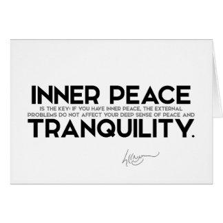 QUOTES: Dalai Lama - Inner peace is the key Card