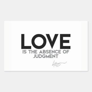 QUOTES: Dalai Lama - Love, judgment Sticker