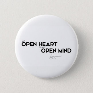QUOTES: Dalai Lama - Open heart, open mind 2 Inch Round Button