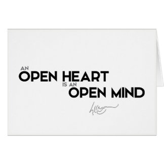 QUOTES: Dalai Lama - Open heart, open mind Card