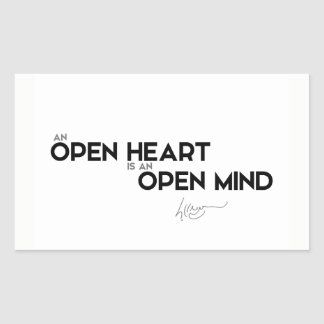 QUOTES: Dalai Lama - Open heart, open mind Sticker