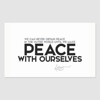QUOTES: Dalai Lama - Peace with ourselves Sticker