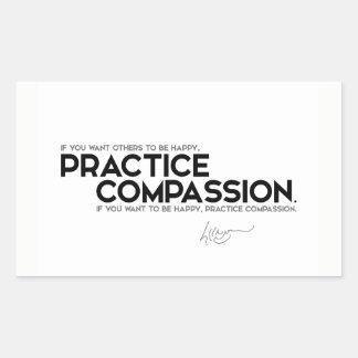 QUOTES: Dalai Lama - Practice compassion Sticker