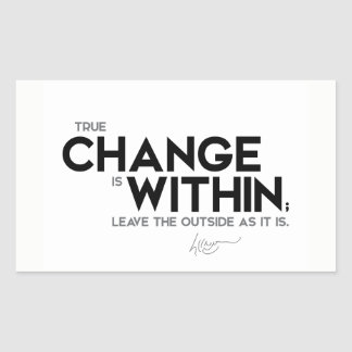 QUOTES: Dalai Lama - True change is within Sticker