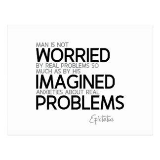 QUOTES: Epictetus: Imagined anxieties Postcard