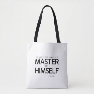 QUOTES: Epictetus: Master of himself Tote Bag