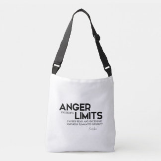 QUOTES: Euripides: Anger limits, kindness Crossbody Bag
