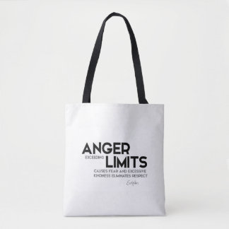 QUOTES: Euripides: Anger limits, kindness Tote Bag