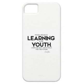 QUOTES: Euripides: Learning in youth iPhone 5 Covers
