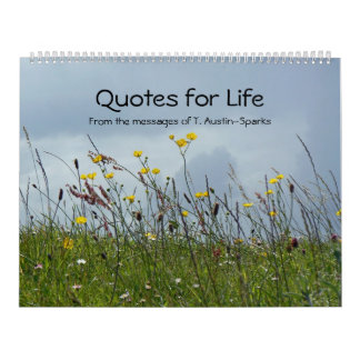 Quotes for Life calendar Option A