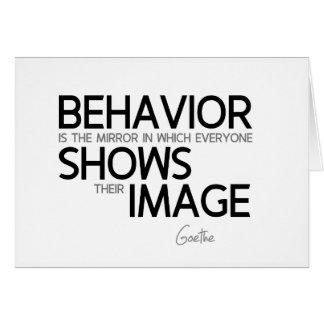 QUOTES: Goethe: Behavior, image Card