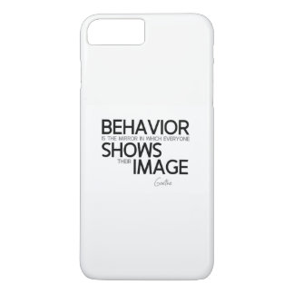 QUOTES: Goethe: Behavior, image Case-Mate iPhone Case