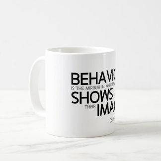 QUOTES: Goethe: Behavior, image Coffee Mug