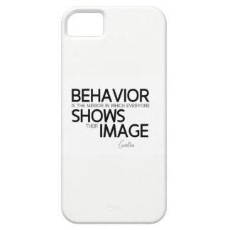 QUOTES: Goethe: Behavior, image iPhone 5 Case