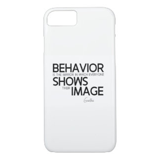 QUOTES: Goethe: Behavior, image iPhone 8/7 Case