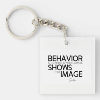 QUOTES: Goethe: Behavior, image Keychain
