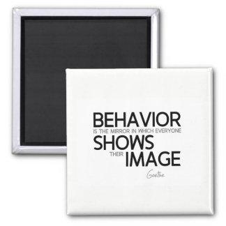 QUOTES: Goethe: Behavior, image Magnet