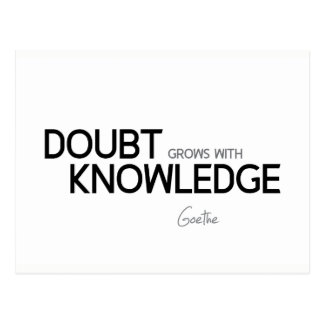 QUOTES: Goethe: Doubt grows with knowledge Postcard