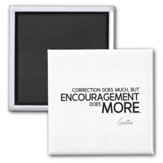 QUOTES: Goethe: Encouragement does more Magnet