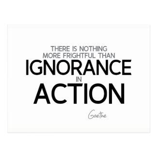 QUOTES: Goethe: Ignorance in action Postcard