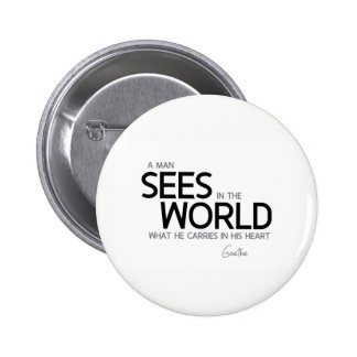 QUOTES: Goethe: Man sees in the world 2 Inch Round Button