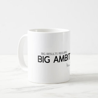 QUOTES: Heraclitus: Big results, big ambitions Coffee Mug