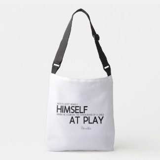 QUOTES: Heraclitus: Child at play Crossbody Bag