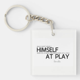 QUOTES: Heraclitus: Child at play Keychain