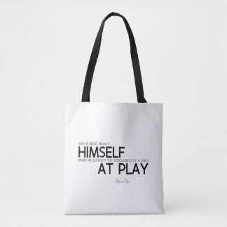 QUOTES: Heraclitus: Child at play Tote Bag
