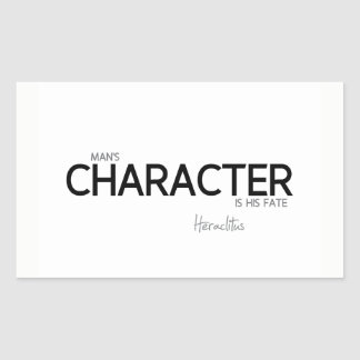 QUOTES: Heraclitus: Man's character Sticker
