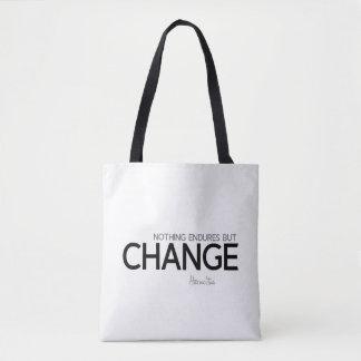 QUOTES: Heraclitus: Nothing endures but change Tote Bag