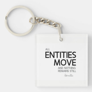 QUOTES: Heraclitus: Nothing remains still Keychain