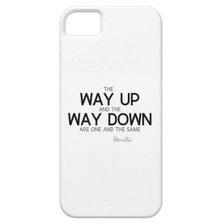 QUOTES: Heraclitus: The way up, way down Case For The iPhone 5