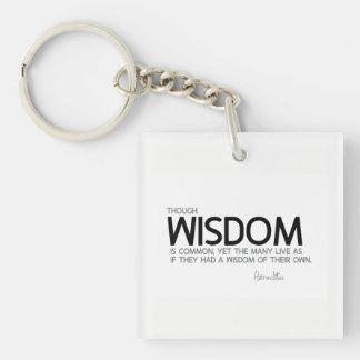 QUOTES: Heraclitus: Wisdom is common Keychain