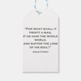 QUOTES JESUS 02 For what shall it profit a man Gift Tags