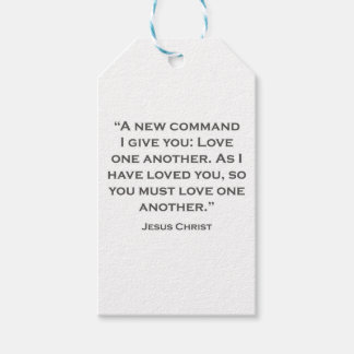 QUOTES JESUS 03 A new command I give you Gift Tags