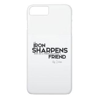 QUOTES: King Solomon: A friend sharpens a friend iPhone 8 Plus/7 Plus Case